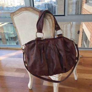 Surly Girl Brown Leather Handbag